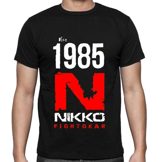 Nikko T-Shirt 1985 Zwart/Rood