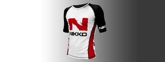 Zwart-wit shirt Nikko
