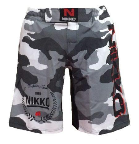 Nikko MMA short Camou Grijs
