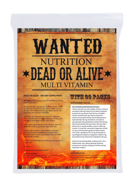 Wanted Dead or Alive Multi Vitamin