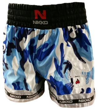 Nikko Kickboksbroek Camouflage Blauw