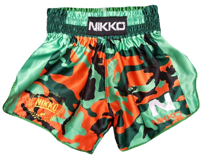 Nikko Kickboksbroek Camouflage Groen