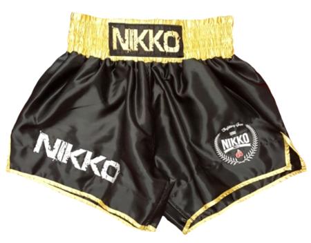 Nikko Kickboksbroek Zwart-Goud