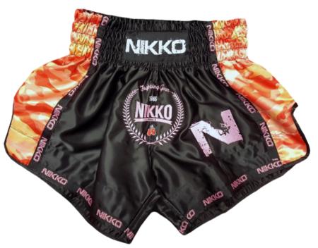 NIkko Kickboksbroek Camouflage Zwart-Roze