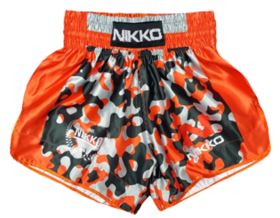 Nikko Kickboksbroek Camou/Orange