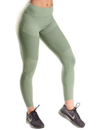 XXL Legging Ribbed Olive Green