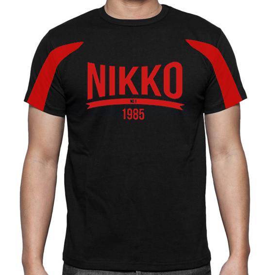 Nikko Dry Fit Shirt Two-Toned Zwart